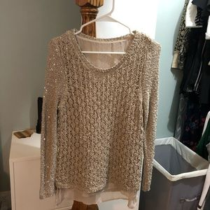 Small Maurice's sequin lace sweater